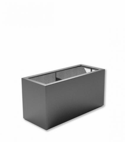 Rechteckiger Pflanzkübel aus flexiblem Fiberglas | pflanzkuebel.shop