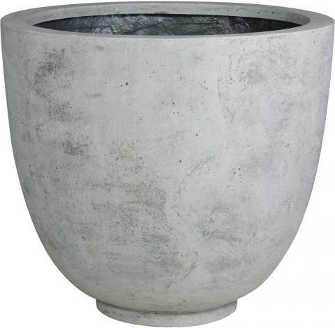 Ego Giant-Pflanzkübel rund grau | pflanzkuebel.shop