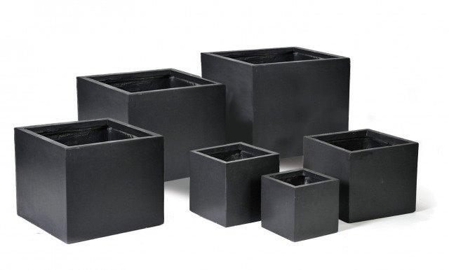 blumentopf w rfel anthrazitfarben. Black Bedroom Furniture Sets. Home Design Ideas