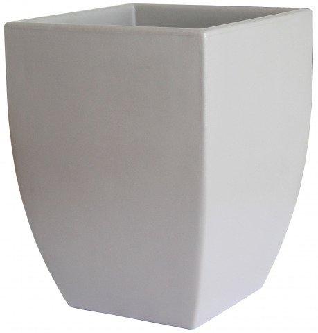 Top Eckiger Pflanzkübel grau aus Kunststoff | pflanzkuebel.shop ZN78