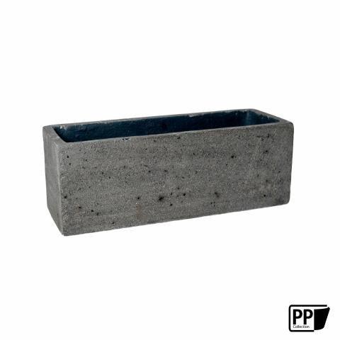 langer blumenkasten in grau mit einer l nge von 50cm f r. Black Bedroom Furniture Sets. Home Design Ideas