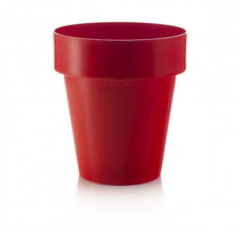 pflanzk bel rot in einer runden form und f r drinnen und drau en einsetztbar. Black Bedroom Furniture Sets. Home Design Ideas