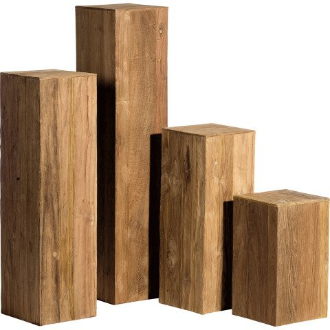 s ule aus echtem recyceltem braunen teak holz online kaufen. Black Bedroom Furniture Sets. Home Design Ideas