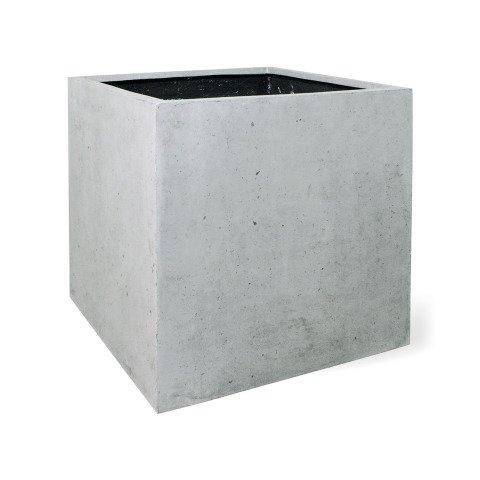 Square-Pflanzkübel grau Polystone | pflanzkuebel.shop