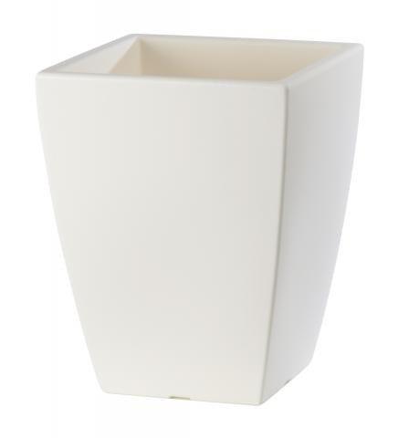 Quadrat Pflanzkübel weiß für den Innen- und Außenbereich wunderbar ...